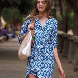 Anthropologie Maeve Ikat Tie Waist Dress